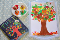 Cork Stamping Art:  Trees in Autumn