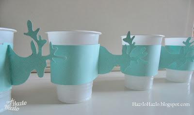 Cómo decorar vasos de plástico para una fiesta de invierno.