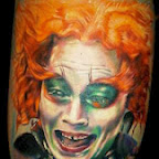 leg Charlie and the Chocolate Factory - Johnny Depp Tattoos Pictures