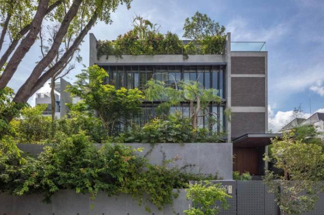 Không gian sống ngập tràn cây xanh của ngôi biệt thự Green Revelation House