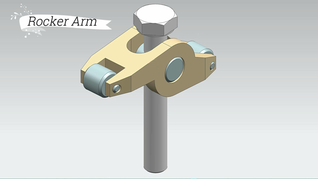 Engine Rocker Arm Assembly-- Siemens Nx Tutorial