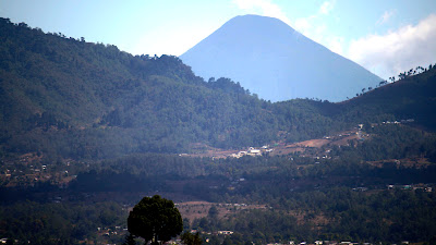 View of Volcan Aqua from the worksite, S Photos by TOM HART