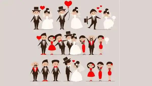 صور زفاف كرتون فيكتور  تصميمات كروت الدعوات والتهاني للأفراح