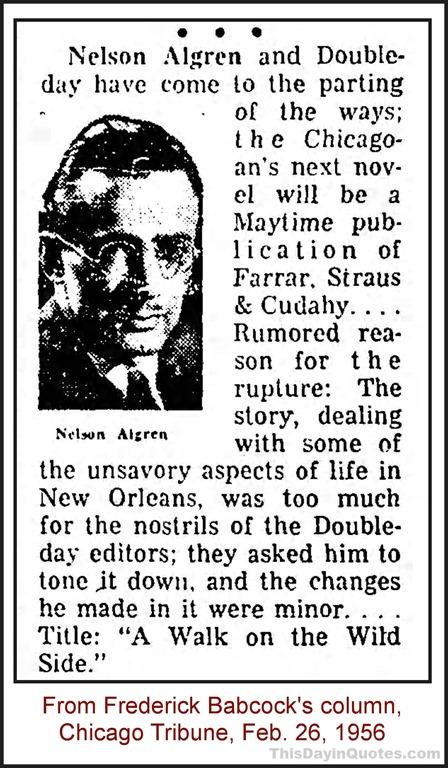 [Newsclip+about+Nelson+Algren%2C+1956]