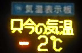 4月中旬なのに-2℃!