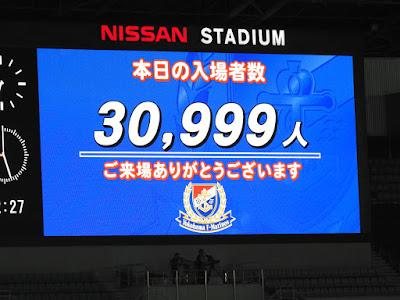 横浜F・マリノスvsFC東京入場者数30,999人