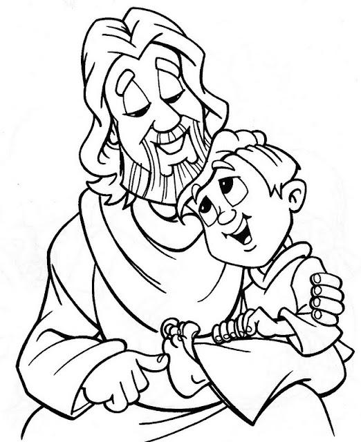Platicar con jesus para colorear