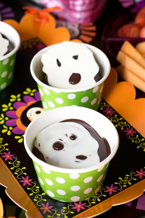 Sugar Skull Chocolate chip cookie trifles.