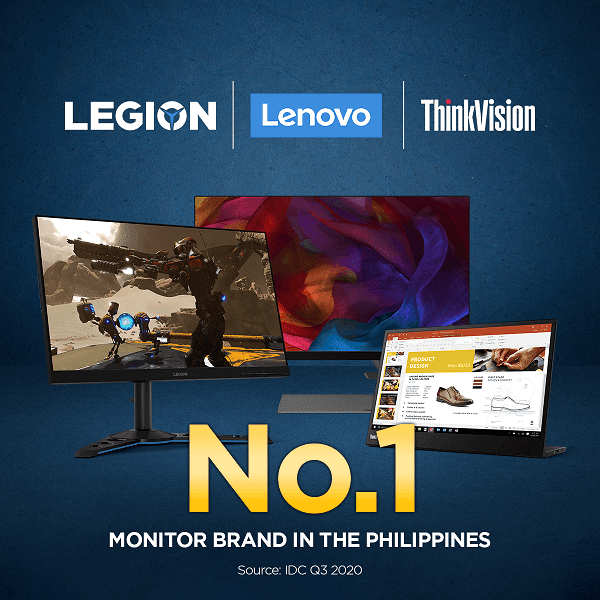 Lenovo cited by IDC as the number one PC monitor brand in the Philippine