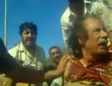 فيديو اعتقال القذافي