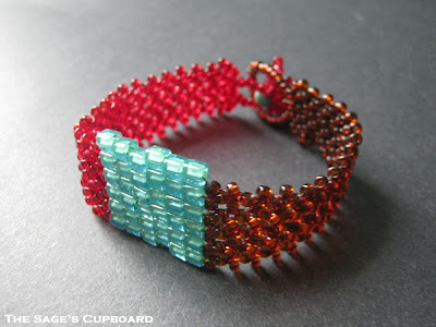 Turquoise Tile Bracelet