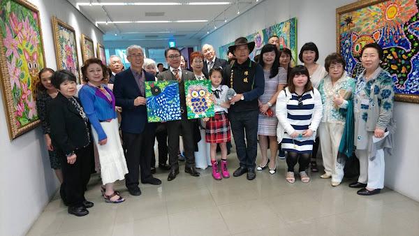 第二屆「2018台日藝術博覽會」由台中市政府與日本株式會社麗人社共同主辦,在台灣大道市政大樓惠中樓、文心樓1樓開展,吸引台日藝術家到場共襄盛會。