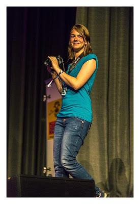 """Geocaching Giga-Event """"Gutenberg 2015"""" - Kati bei der Arbeit"""