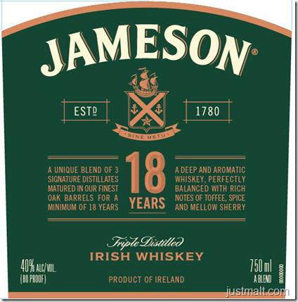 Jameson 18-Year Irish Whiskey