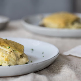 Creamy Vegan Potato Broccoli Casserole (gluten-free & oil-free).