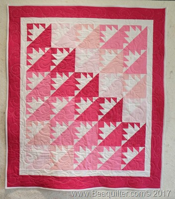 pink girl QUBE quilt