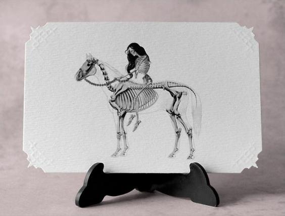 Lady Godiva, Victorian Card