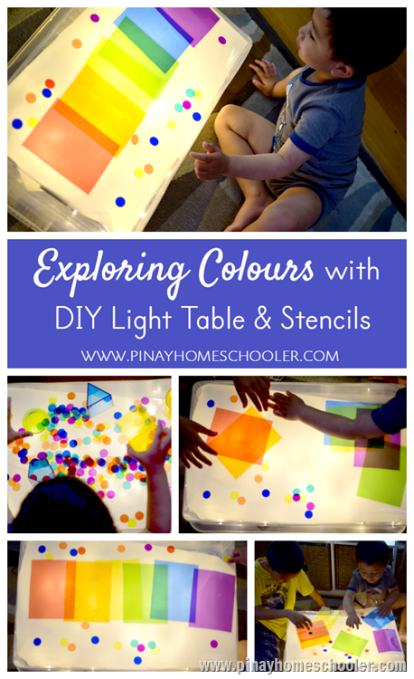 Exploring Colors with DIY Light Table and Stencils