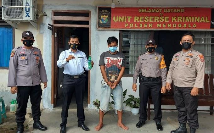 Gelar Patroli Hunting Pencegahan C3 di Menggala, Polisi Tangkap Pria Yang Sedang Konsumsi Narkotika