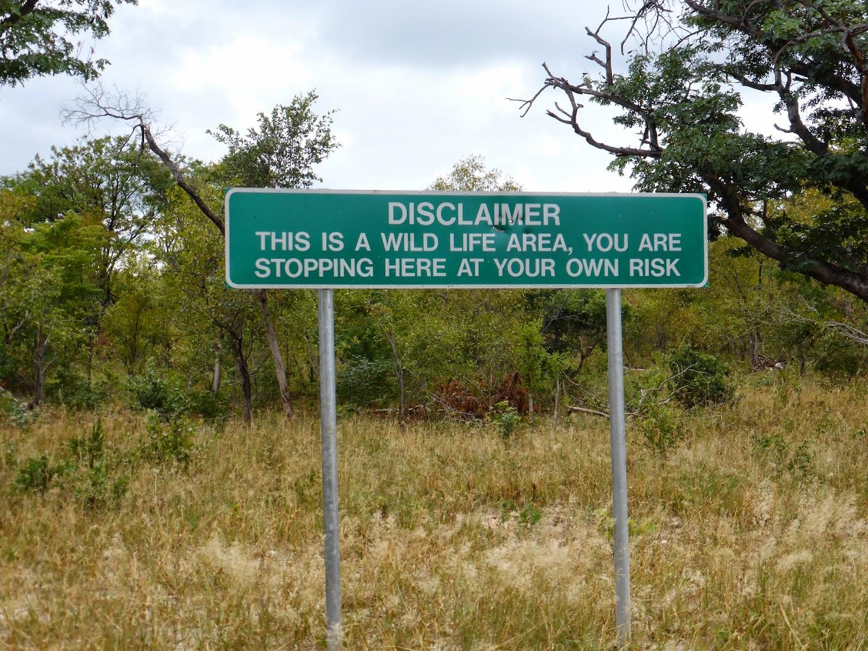 Botswana rustplek langs de weg