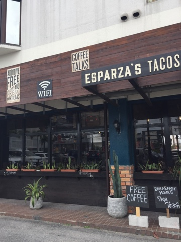 Esparza's Tacos and Coffee in Chatan offers a large vegan menu and is very tasty!