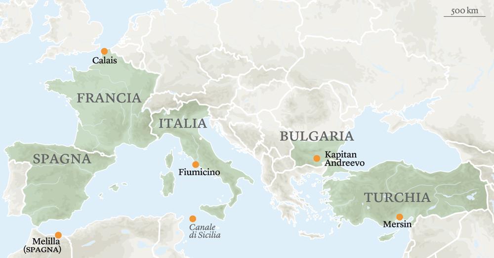 mappa, porte accesso, migranti