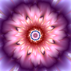 Flower 18 by Cassy 67 - Illustration Abstract & Patterns ( abstract, bloomy, purple, wallpaper, digital, fractal art, digital art, fractal, flowers, fractals, light, flower, energy )