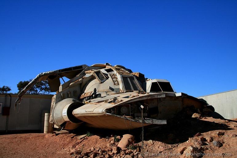 Pitch black spaceship Coober Pedy Australia