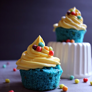 Fruity Minion Cupcakes