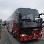Mercedes Tourismo spelers bus van Sparta Rotterdam
