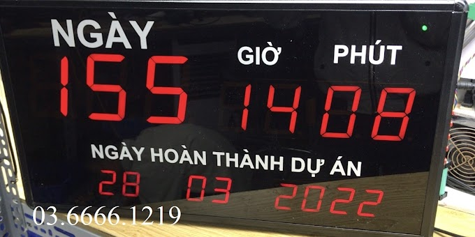 Đồng hồ Led treo tường đếm ngược ngày dự án - 2022