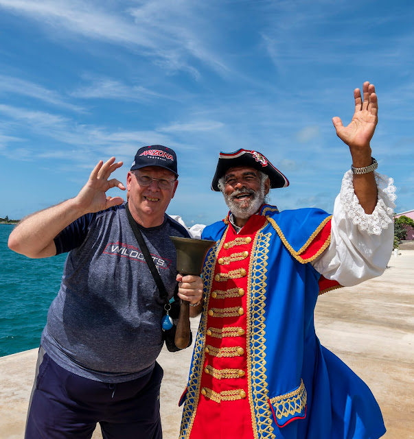Mr. Jones, town crier of St. George's Bermuda and former mayor of St. George's With Me