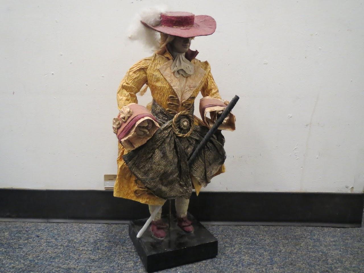 Painted Wood Dandy Figure