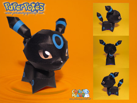 Chibi Umbreon Papercraft
