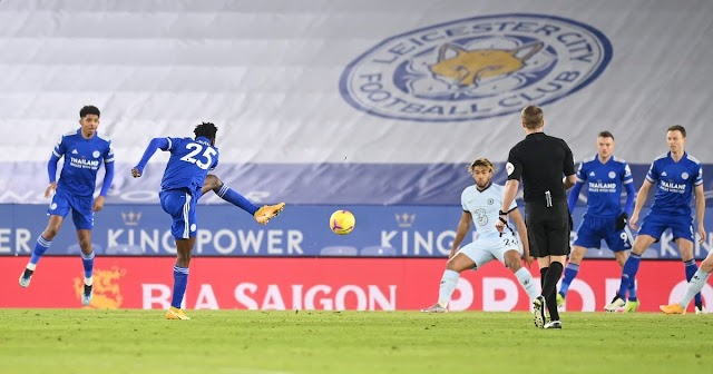 Leicester Defeats Chelsea 2 Nil To Move Top Of The Table