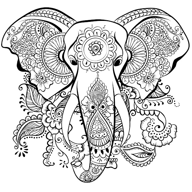 Wild At Heart Adult Coloring Book Stressrelieving Designs Artists Coloring  Books Peter Pauper Press Davlin Publishing Elephant Mandala Art
