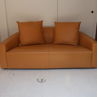 Poliform Italian Leather Sofa