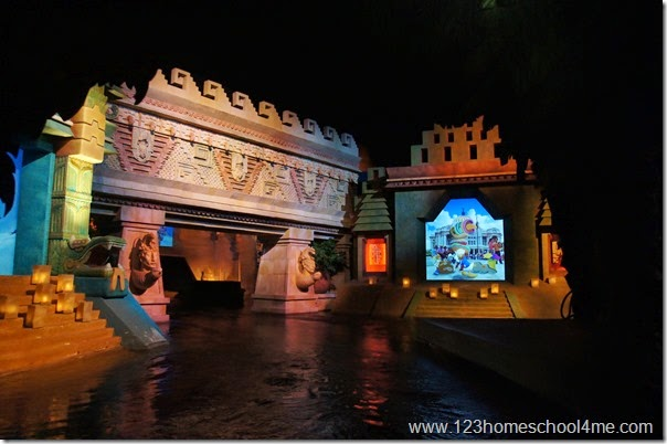 Three Caballeros Mexican Donald Ride in Epcot Disney World