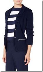 Lauren Ralph Lauren classic zip pocket navy jersey blazer