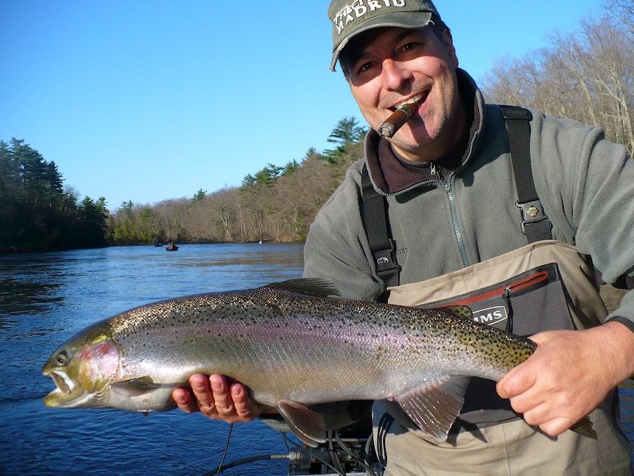 muskegon river fishing for steelhead trout