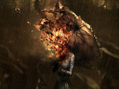 Burning Umbrella, Death