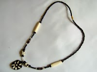 Bone Pendant Necklace (Single Strand - Female - Batik)
