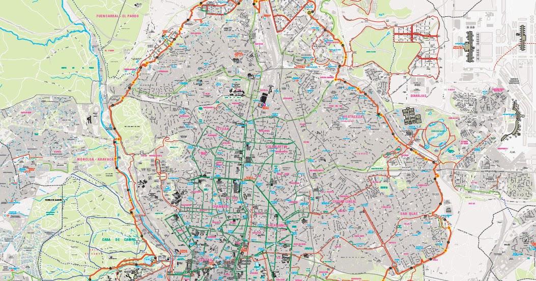 Mapa Carril Bici Gijon.Nuevo Plano Del Anillo Ciclista En Pdf En Bici Por Madrid