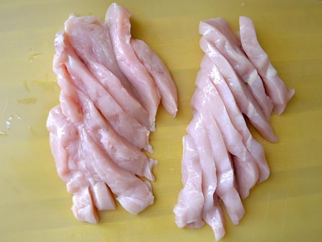 slice chicken