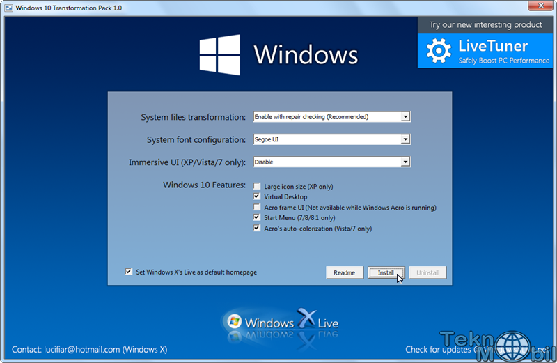Windows 10 Transformation Pack Full v5.0