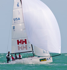 J/70 Tim Healy- sailing Key West Race Week