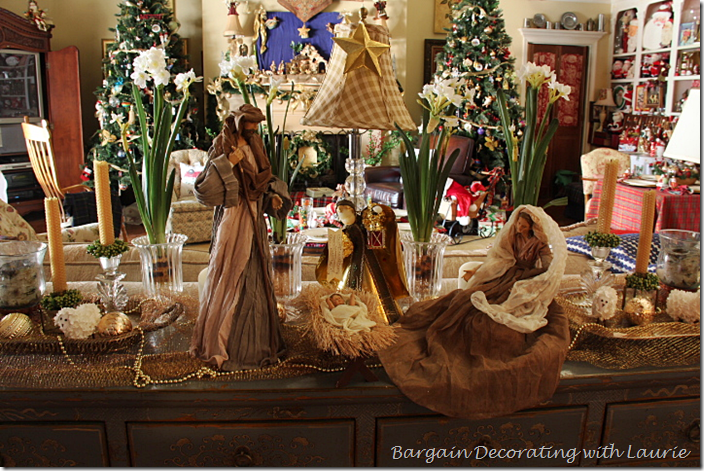 Nativity on Family Room Buffet