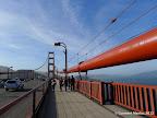 Sidewalk next to Highway 101 along Golden Gate Bridge