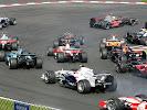 First corner after start 2007 Belgium F1 GP