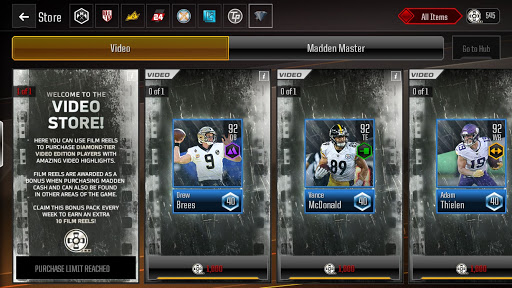dd0ce56fb Overdrive Master Diamond Video Players Overview - Madden NFL ...